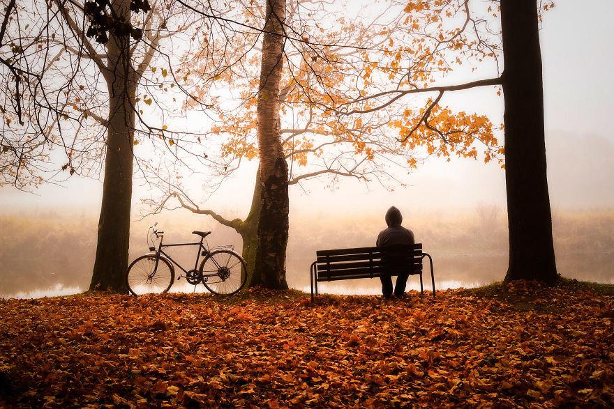 Картинки задумчивость осень, надписью скучаю поздравления