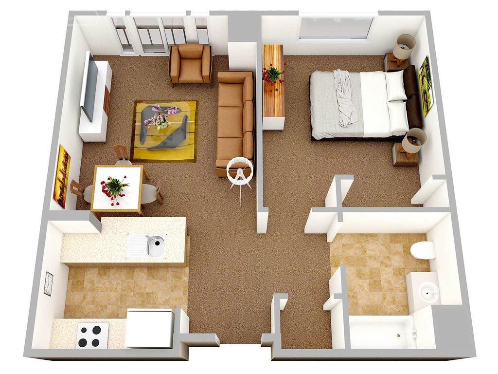 Планировка однокомнатных квартир картинки