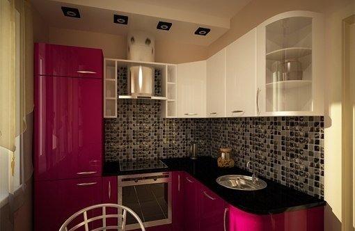 проект кухни дизайн фото 6 кв.м с холодильником фото