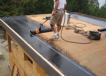 как покрыть крышу гаража бикростом своими руками