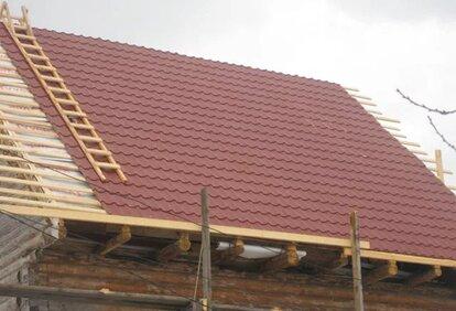 покрыть крышу металлочерепицей своими руками