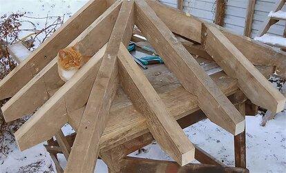как сделать каркас крыши дома