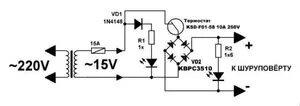 Схема аккумулятора для шуруповерта