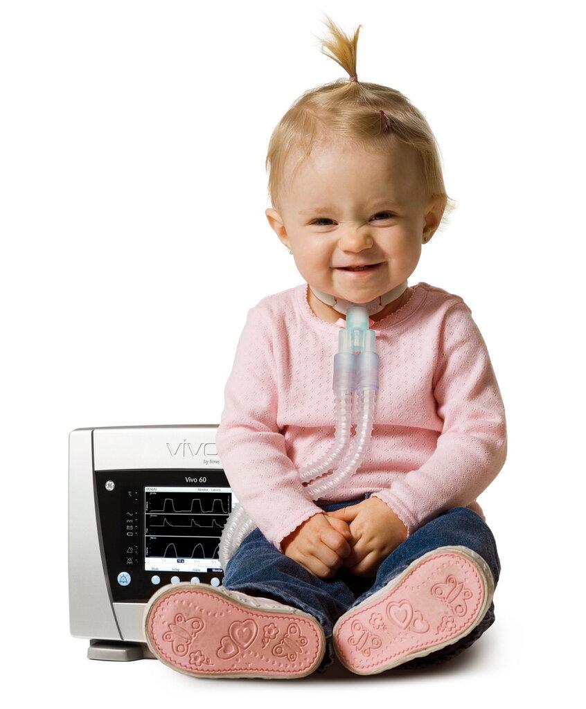 приборы Vivo Breas для детей с нейромышечными заболеваниями
