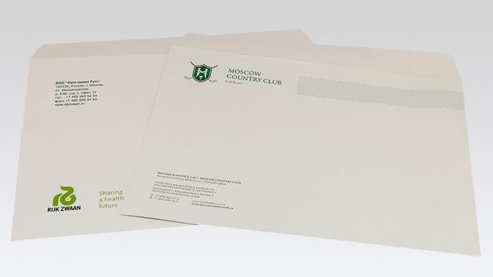 """Печать конвертов формата С4, С5, """"евро"""" от 500 штук."""