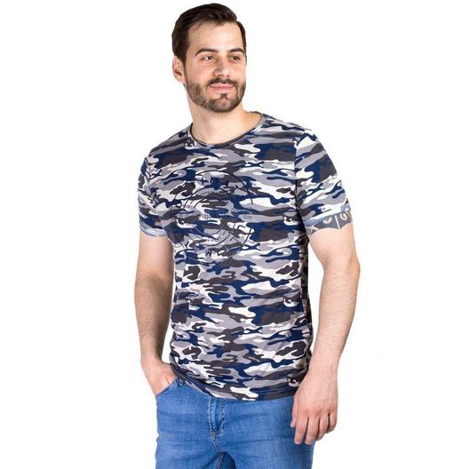 В наличии большой ассортимент мужских футболок с модными принтами и расцветками.