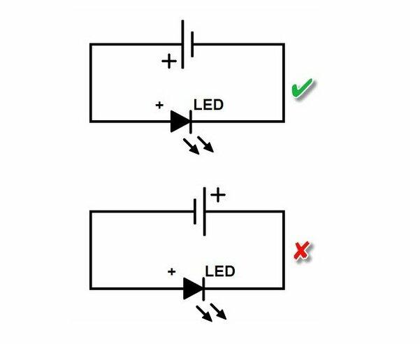 Простая светодиодная схема - фотография 5