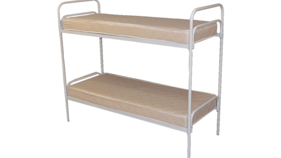 Двухъярусная кровать  80х190  может быть укомплектована матрасом ватным, пружинным или ППУ (поролон). Уточните цену в зависимости от типа матраса