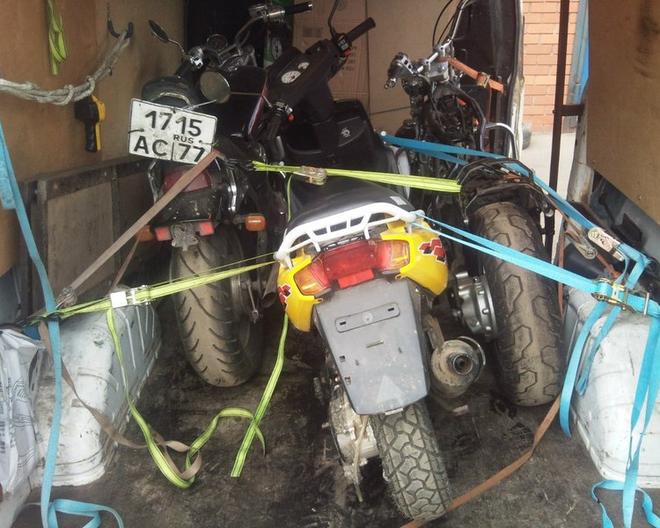 Выполнение сложных и нестандартных перевозок мотоциклов.