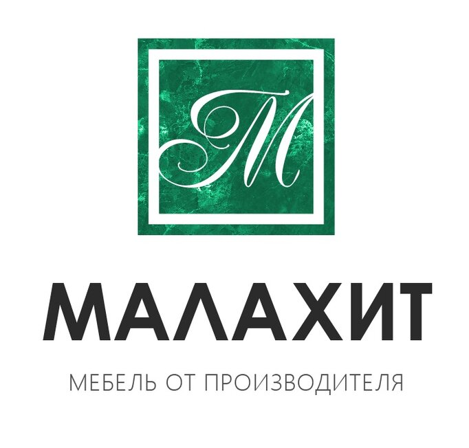 Логотип мебель малахит