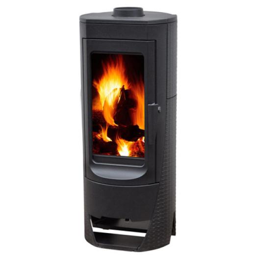 Plamen Nera (Пламен Нера) - стильная чугунная печь отопит до 10 м2. Вытянутое по вертикали форма печи и большое стекло придают особую красоту огню.