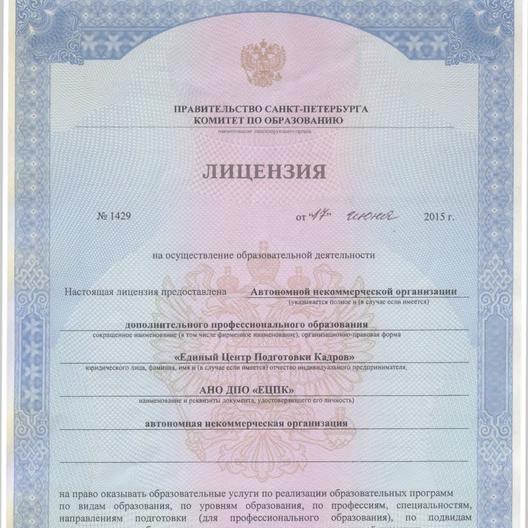 Образовательная Лицензия №1429