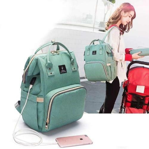 Сумка - рюкзак для мам с USB портом, бесплатной доставкой по Москве и дополнительным аккумулятором.