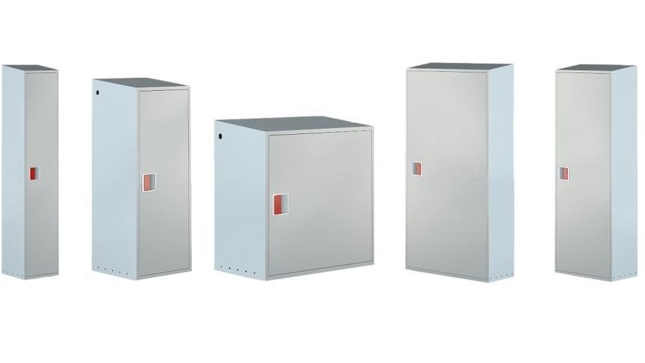 Металлические уличные шкафы для газовых баллонов