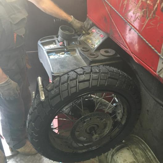 Ремонт заднего колеса