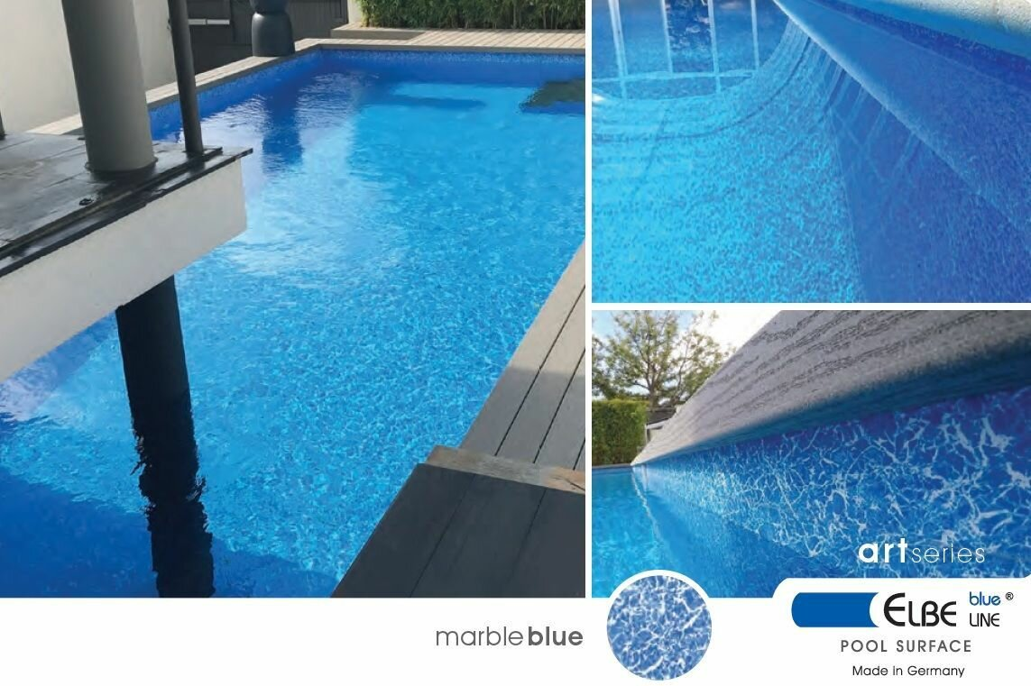 ПЛЕНКА МЕМБРАНА ДЛЯ БАССЕЙНА MARBLE BLUE SGBD 160 ELBTAL-PLASTICS