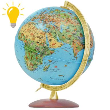 Глобус Сафари с подсветкой, Италия