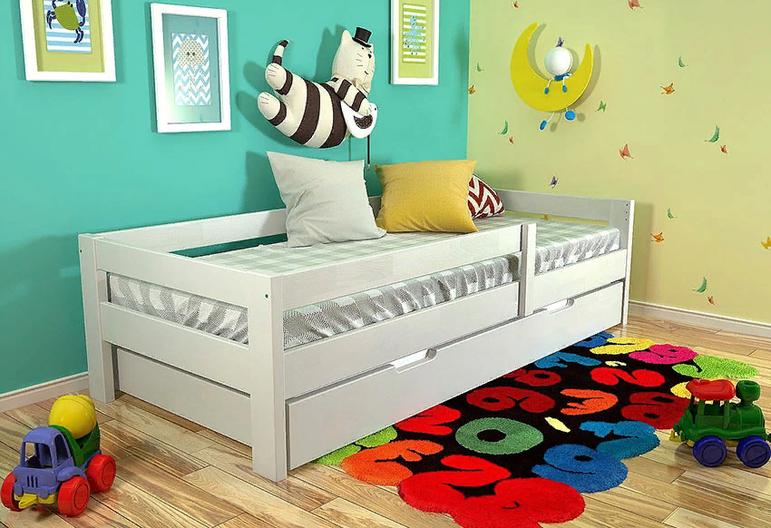 Детская кровать дина, из массива сосны