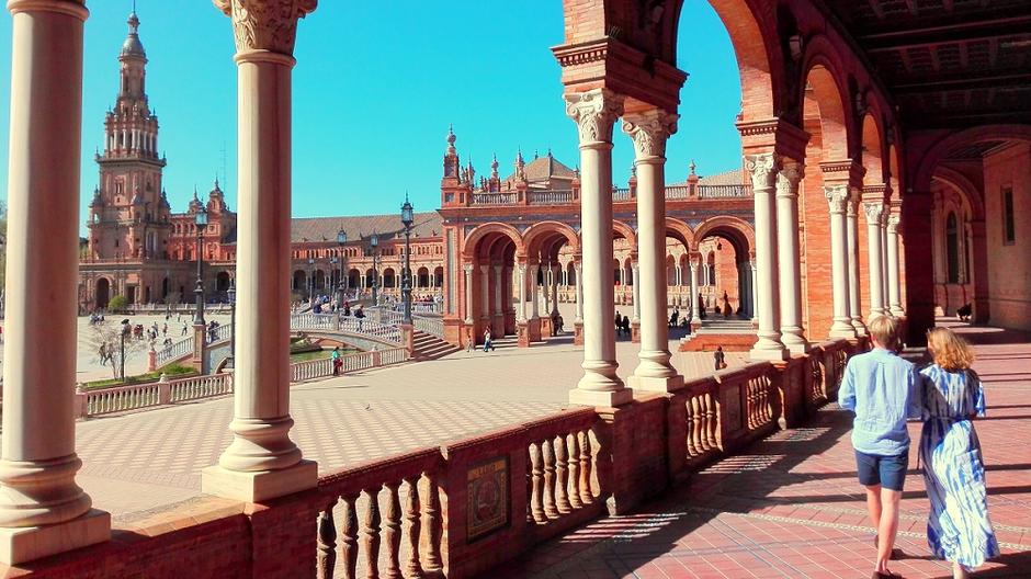 Экскурсии в Севилье. Площадь Испании