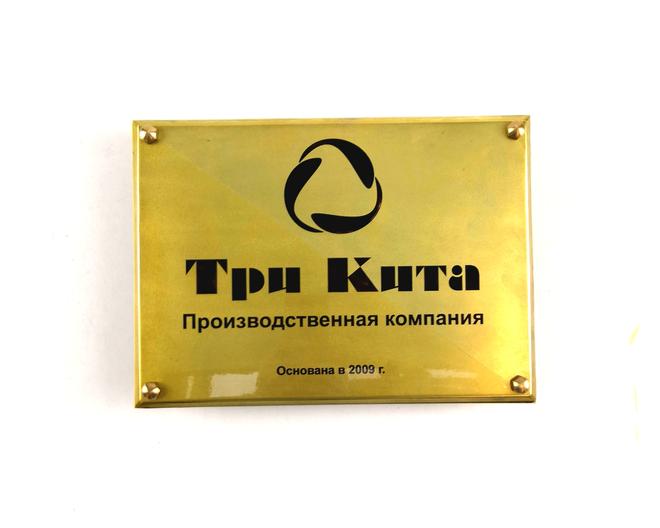Табличка на фасад здания. 300/200 мм. Стоимость 2800 рублей. Можно изготовить другой размер.
