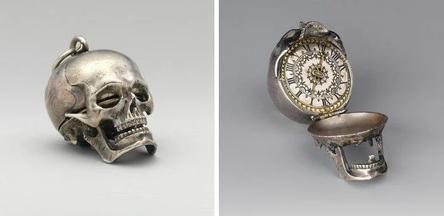 Карманные часы-череп. Работа часовщика Исаака Пенара, 17 век / Фото: ©mixnews.lv