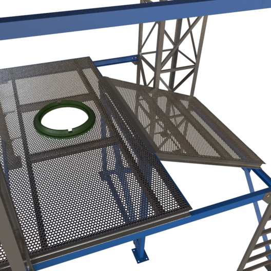Конструкция люка стандартная, возможно вность открытые технологические лазы в конструкцию