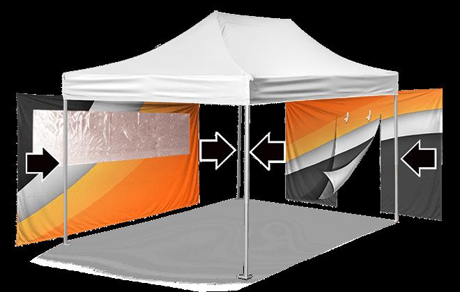 Брендирование стенок для шатра