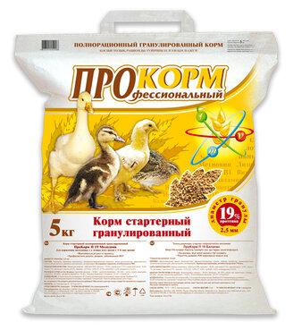 ПроКорм П 19 стартерный корм для цыплят, утят, гусят с 5-8 дня
