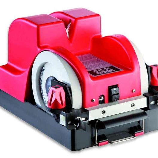 Заточной станок DICK SM 110 для ручных ножей. Подойдет для массовой влажной заточки и полировки обвалочных ножей на производстве. Без шлифовки.