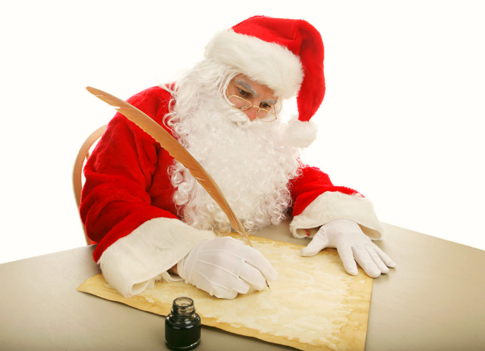Письмо с поздравлением Деда Мороза
