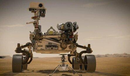 Марсоход Perseverance и вертолет Ingenuity