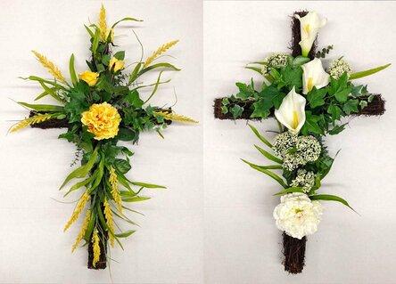Крест с желтыми цветами