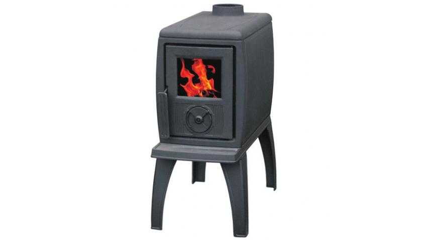 Plamen Trenk чугунная 7 кВт печь-буржуйка. Безколосниковая система. Стенки печи двойные. Верхнюю часть можно использовать как варочную поверхность.