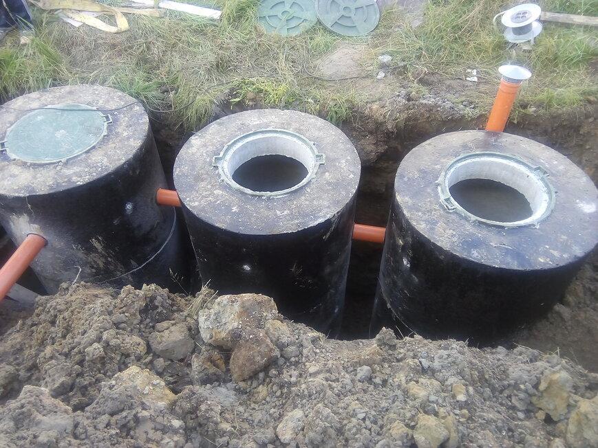 Септик из бетонных колец под ключ