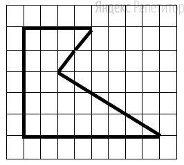 Определите площадь фигуры, если сторона клетки равна ....