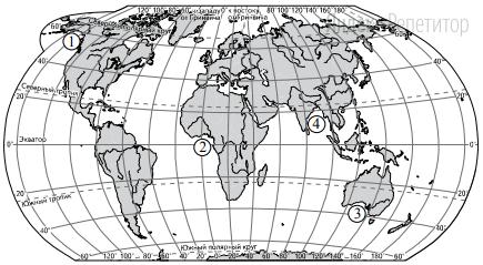 Установите соответствие между заливом и его обозначением на карте мира: к каждому элементу первого столбца подберите соответствующий элемент из второго столбца.