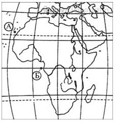 Считается, что средняя соленость поверхностных вод Атлантического океана наибольшая по сравнению с другими океанами. Однако у берегов Африки в точке Б она существенно ниже, чем в точке А.