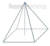 Найдите объём правильной четырёхугольной пирамиды (в см...), сторона основания которой равна ... см, а высота равна ... см.