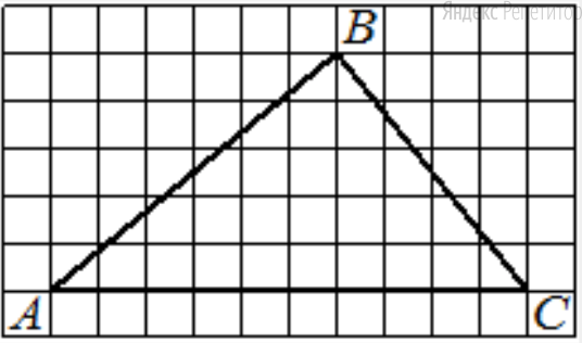 На клетчатой бумаге с размером клетки ... изображён треугольник .... Найдите длину его средней линии, параллельной стороне ....
