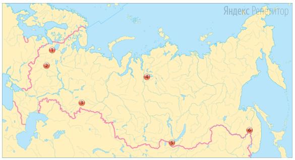 Выберите из обозначенных на карте России три наибольших агломерации.