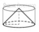 Цилиндр и конус имеют общие основание и высоту. Высота цилиндра равна радиусу основания. Площадь боковой поверхности цилиндра равна ...