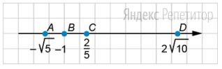 Сколько целых чисел находится в промежутке между точками ... и ...