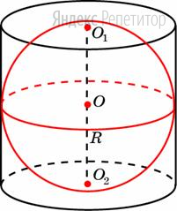 Шар, объём которого равен ..., вписан в цилиндр.