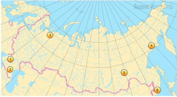 Какие три из обозначенных на карте территорий РФ имеют наибольшую среднюю плотность населения?