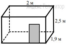 Для оклейки стен ванной комнаты (см. рисунок) нужно приобрести керамическую плитку, причем плитка покупается с запасом в ... от оклеиваемой площади.
