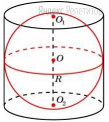 Шар вписан в цилиндр. Площадь полной поверхности цилиндра равна 60.