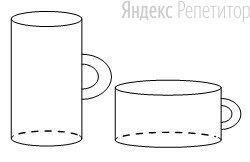 Даны две кружки цилиндрической формы. Первая кружка в четыре с половиной раза выше второй, а вторая в полтора раза шире первой.