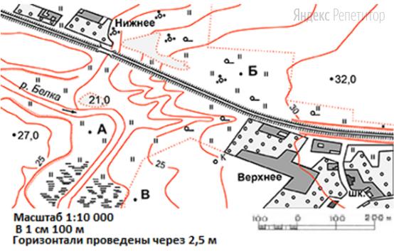 Определите по карте азимут от точки ... до моста на восточной окраине села Нижнее, расположенного на ... севернее западного направления.