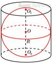 Цилиндр, объём которого равен 96, описан около шара.