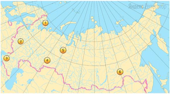 Какие три территории в пределах Российской Федерации из обозначенных на карте имеют наибольшую среднюю плотность населения?